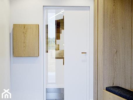 Aranżacje wnętrz - Hol / Przedpokój: Przytulne wnętrze - Mały biały hol / przedpokój, styl nowoczesny - NUKO STUDIO. Przeglądaj, dodawaj i zapisuj najlepsze zdjęcia, pomysły i inspiracje designerskie. W bazie mamy już prawie milion fotografii!