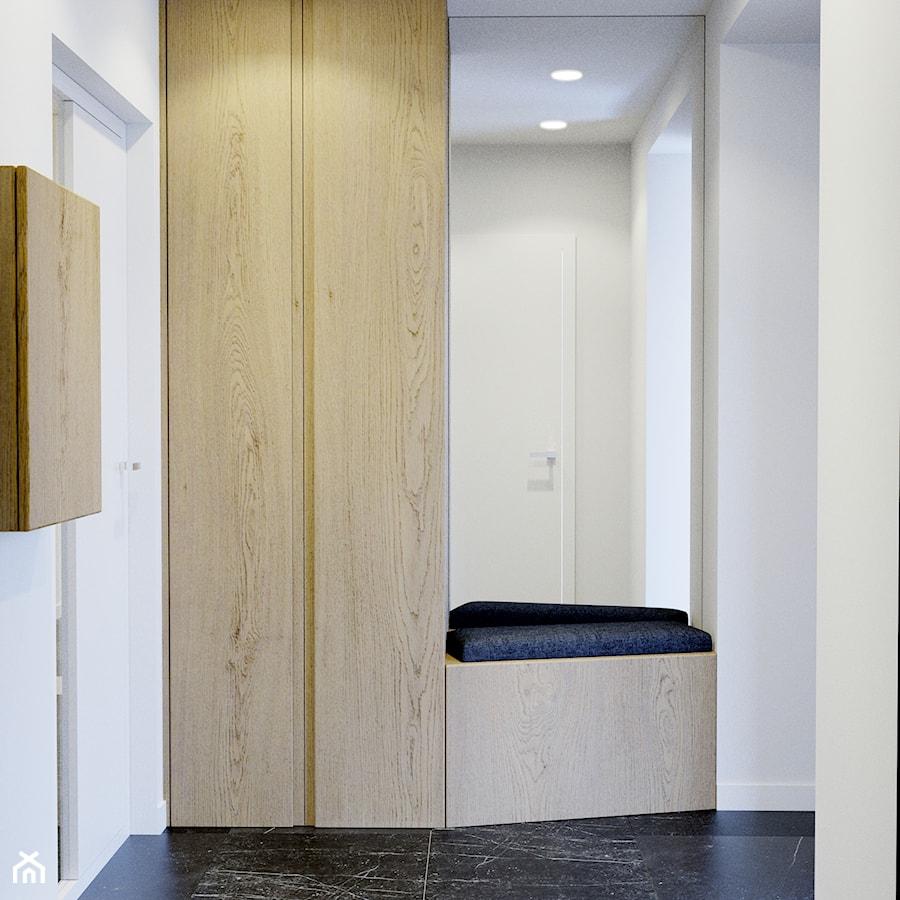 Przytulne wnętrze - Mały biały hol / przedpokój, styl nowoczesny - zdjęcie od NUKO STUDIO