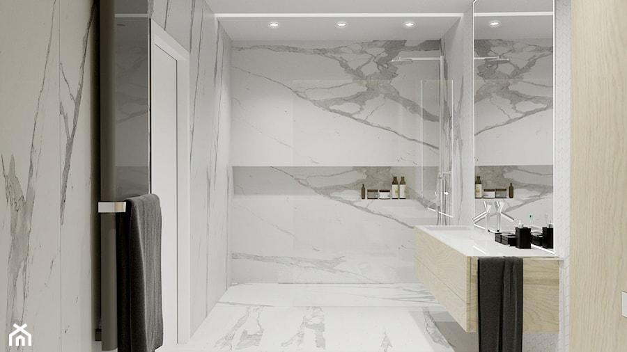 Projekt wnętrza domu w Krakowie - Łazienka, styl nowoczesny - zdjęcie od NUKO STUDIO