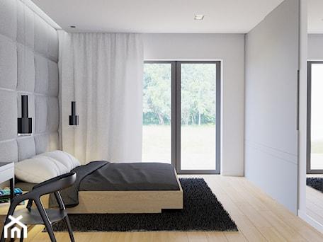 Aranżacje wnętrz - Sypialnia: Eleganckie wnętrze - Średnia biała szara sypialnia małżeńska, styl nowoczesny - NUKO STUDIO. Przeglądaj, dodawaj i zapisuj najlepsze zdjęcia, pomysły i inspiracje designerskie. W bazie mamy już prawie milion fotografii!