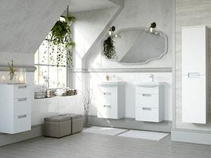 Inspiracje łazienki - Średnia łazienka na poddaszu jako salon kąpielowy jako domowe spa z oknem, styl eklektyczny - zdjęcie od Cersanit