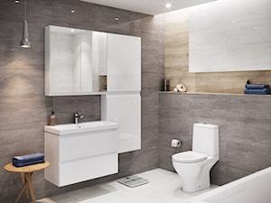 Kolekcja MODUO - Średnia czarna łazienka w bloku w domu jednorodzinnym bez okna, styl skandynawski - zdjęcie od Cersanit