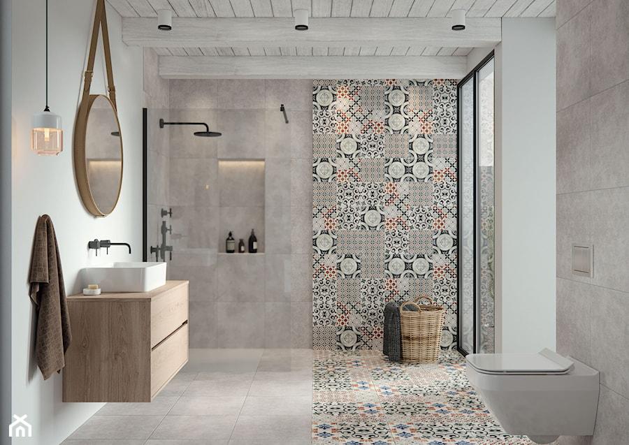 Patchwork łazienka Styl Eklektyczny Zdjęcie Od Cersanit