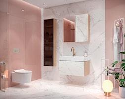Inverto - Średnia biała różowa łazienka w bloku w domu jednorodzinnym, styl eklektyczny - zdjęcie od Cersanit - Homebook