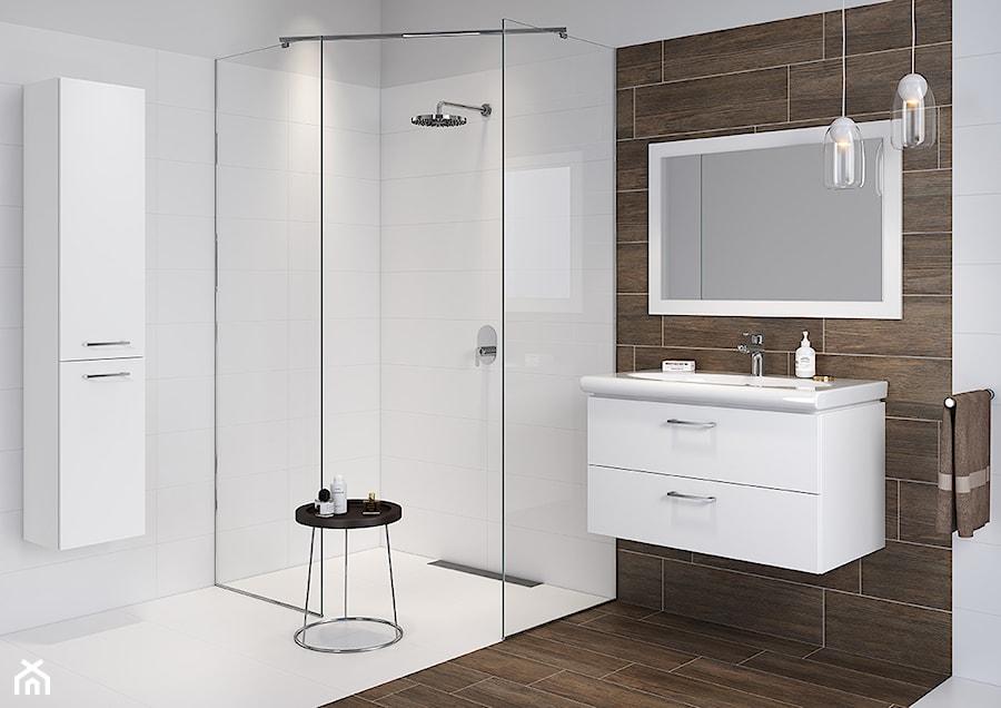 Inspiracje łazienki Mała Biała łazienka Na Poddaszu W