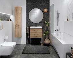City - Średnia biała czarna szara łazienka, styl eklektyczny - zdjęcie od Cersanit - Homebook