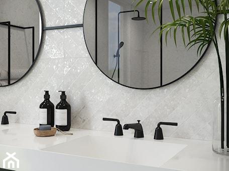 Aranżacje wnętrz - Łazienka: Rest - Mała szara łazienka w bloku w domu jednorodzinnym z oknem, styl minimalistyczny - Cersanit. Przeglądaj, dodawaj i zapisuj najlepsze zdjęcia, pomysły i inspiracje designerskie. W bazie mamy już prawie milion fotografii!