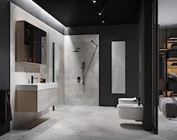Inverto - Duża czarna szara łazienka w domu jednorodzinnym bez okna, styl nowoczesny - zdjęcie od Cersanit - Homebook