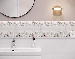 Aura - Różowa łazienka w bloku w domu jednorodzinnym bez okna - zdjęcie od Cersanit