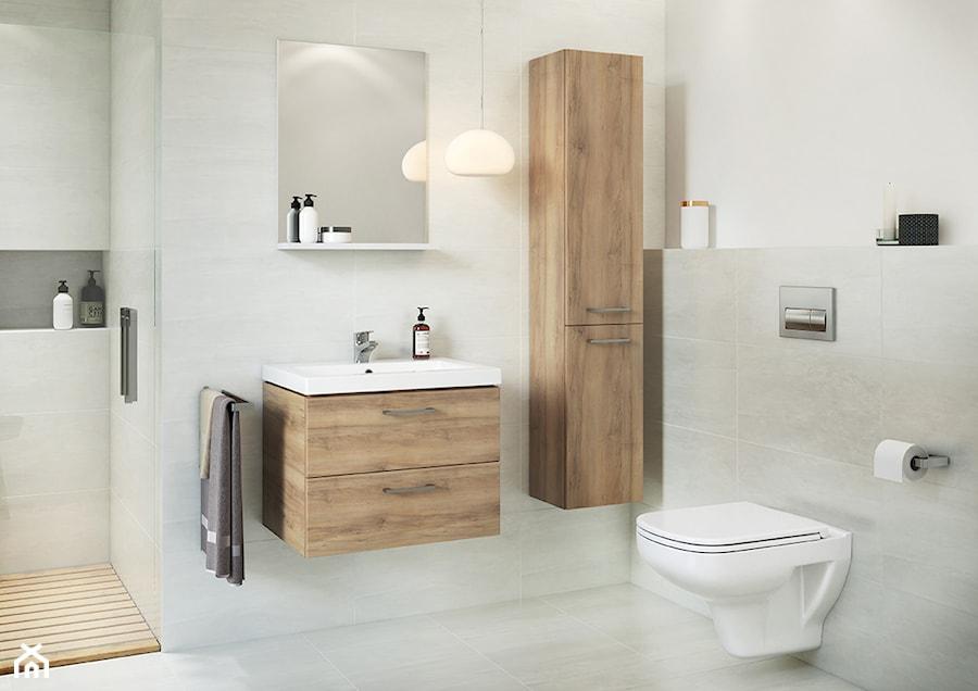 Inspiracje łazienki średnia Biała łazienka W Bloku W Domu