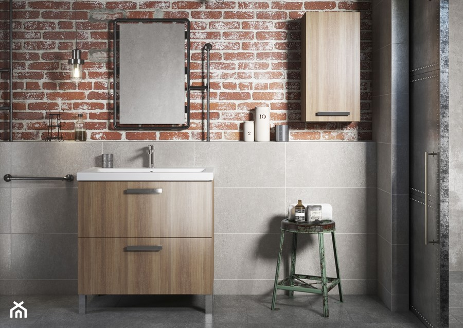 Inspiracje łazienki - Łazienka, styl industrialny - zdjęcie od Cersanit