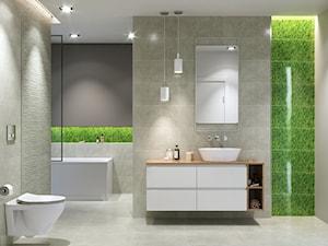 Fresh Moss - Średnia szara łazienka w bloku w domu jednorodzinnym bez okna, styl eklektyczny - zdjęcie od Cersanit