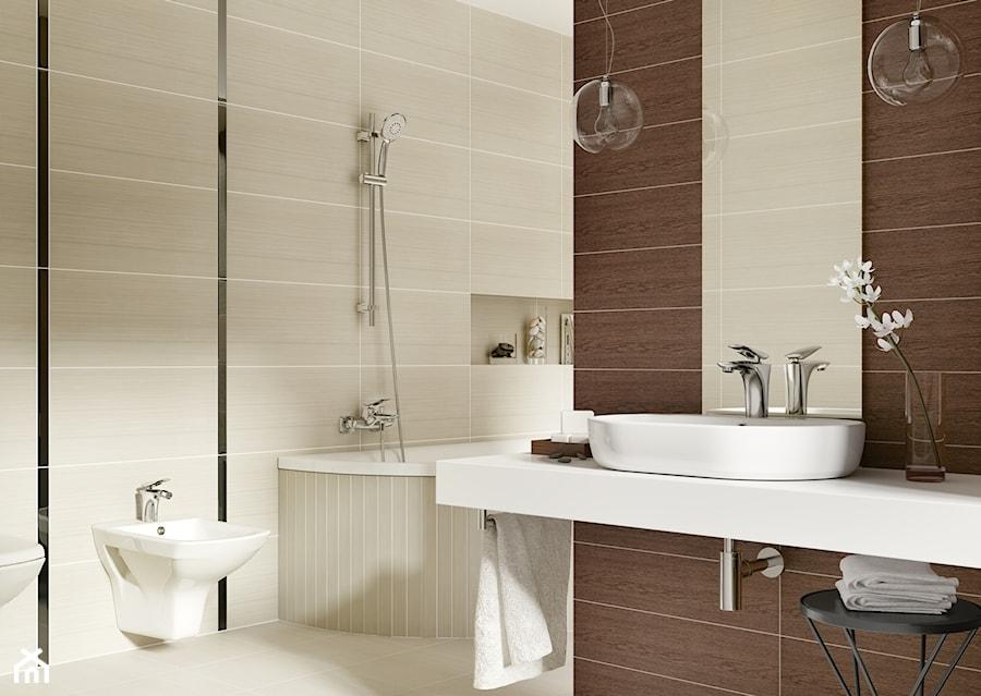 Inspiracje łazienki Duża Beżowa Brązowa łazienka Zdjęcie