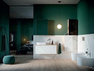Łazienka z marmurem w tle – jak dopasować do niej meble i ceramikę?