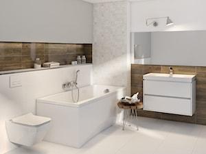Alaya - Średnia szara łazienka w bloku w domu jednorodzinnym bez okna, styl skandynawski - zdjęcie od Cersanit