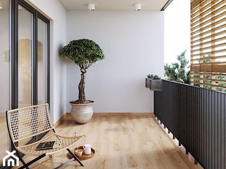 Sandwood - Duży taras z tyłu domu, styl skandynawski - zdjęcie od Cersanit