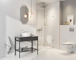Arctic Stone - Średnia szara łazienka w bloku w domu jednorodzinnym bez okna, styl minimalistyczny - zdjęcie od Cersanit