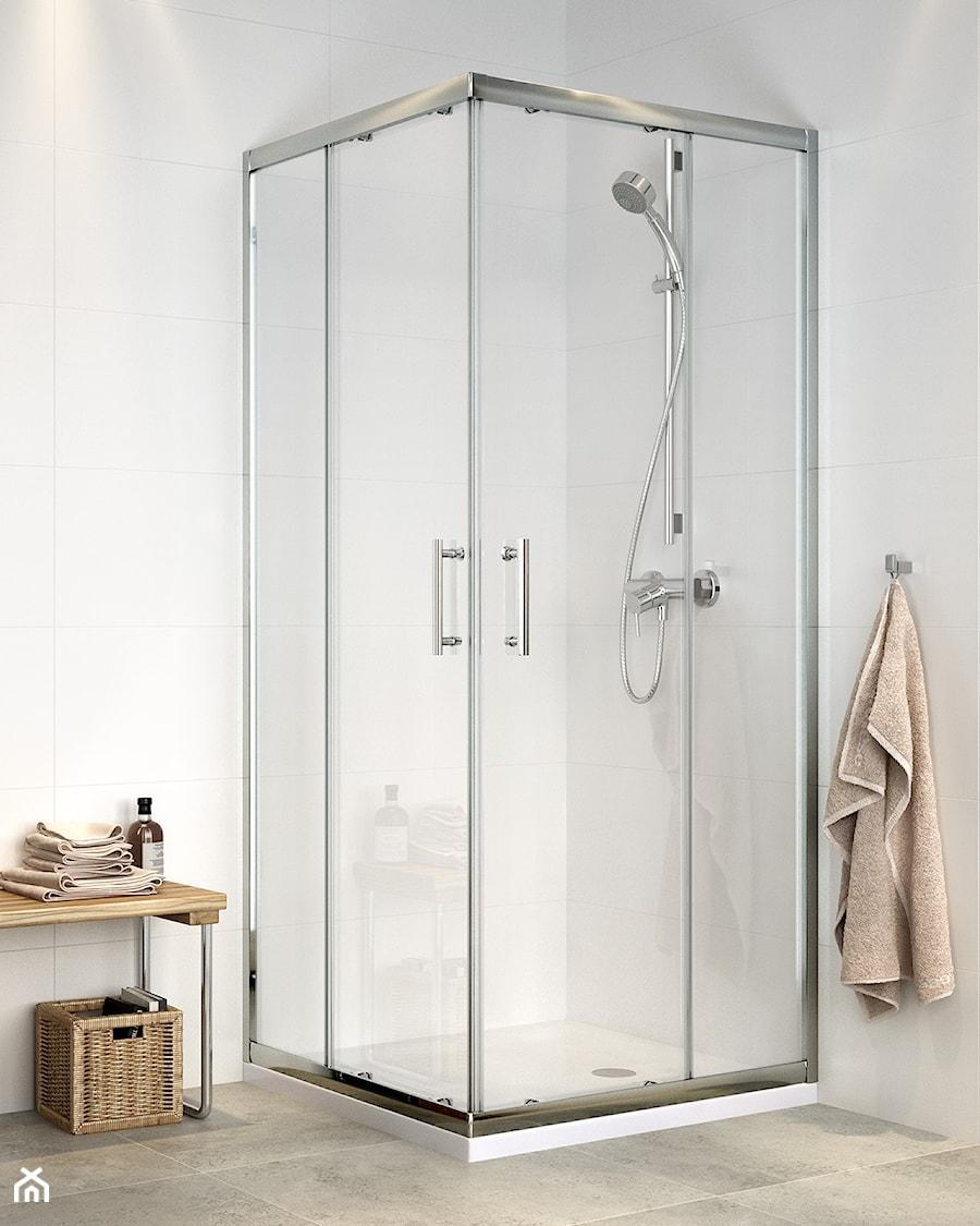 Aranżacje wnętrz - Łazienka: Kabiny prysznicowe - Mała biała łazienka na poddaszu w bloku w domu jednorodzinnym bez okna, styl nowoczesny - Cersanit. Przeglądaj, dodawaj i zapisuj najlepsze zdjęcia, pomysły i inspiracje designerskie. W bazie mamy już prawie milion fotografii!