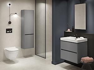 Crea - Średnia czarna szara łazienka w bloku w domu jednorodzinnym bez okna, styl nowoczesny - zdjęcie od Cersanit