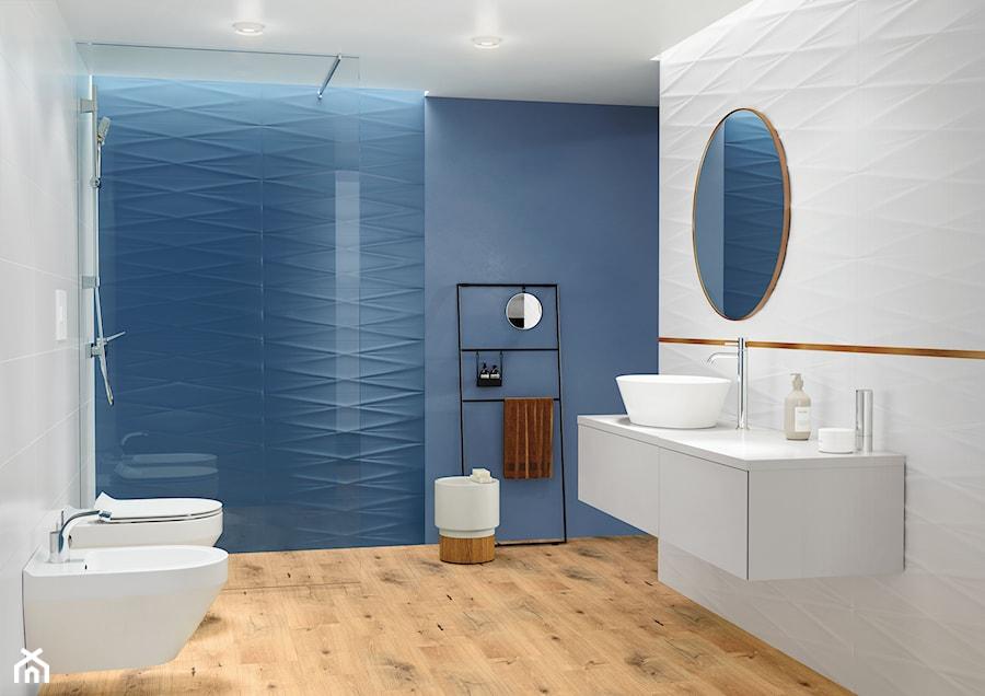 Aranżacje wnętrz - Łazienka: Gravity - Średnia niebieska szara łazienka w bloku w domu jednorodzinnym bez okna, styl eklektyczny - Cersanit. Przeglądaj, dodawaj i zapisuj najlepsze zdjęcia, pomysły i inspiracje designerskie. W bazie mamy już prawie milion fotografii!