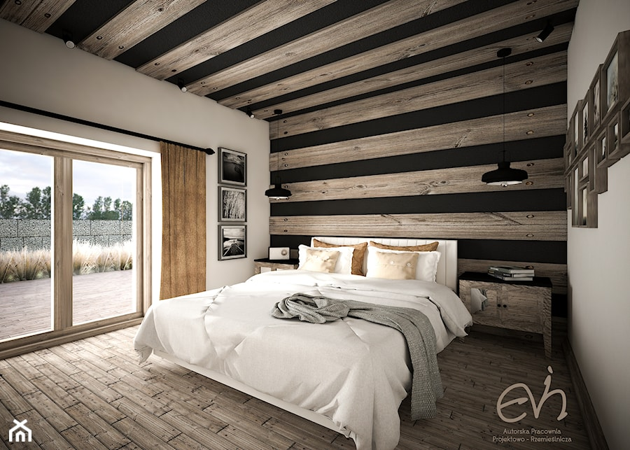 Sypialnia rustykalna