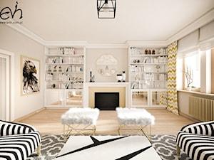 Złoty salon - Średni beżowy salon, styl klasyczny - zdjęcie od Evin
