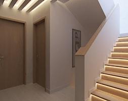 Dom w Kwirynowie - Średni biały hol / przedpokój, styl nowoczesny - zdjęcie od TissuArchitecture