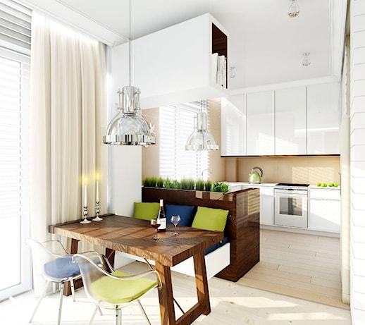 Apartament w stylu wakacyjnym na warszawskiej Saskiej Kępie – Tissu  zdjęci   -> Kuchnia Funkcjonalna Na Saskiej Kepie