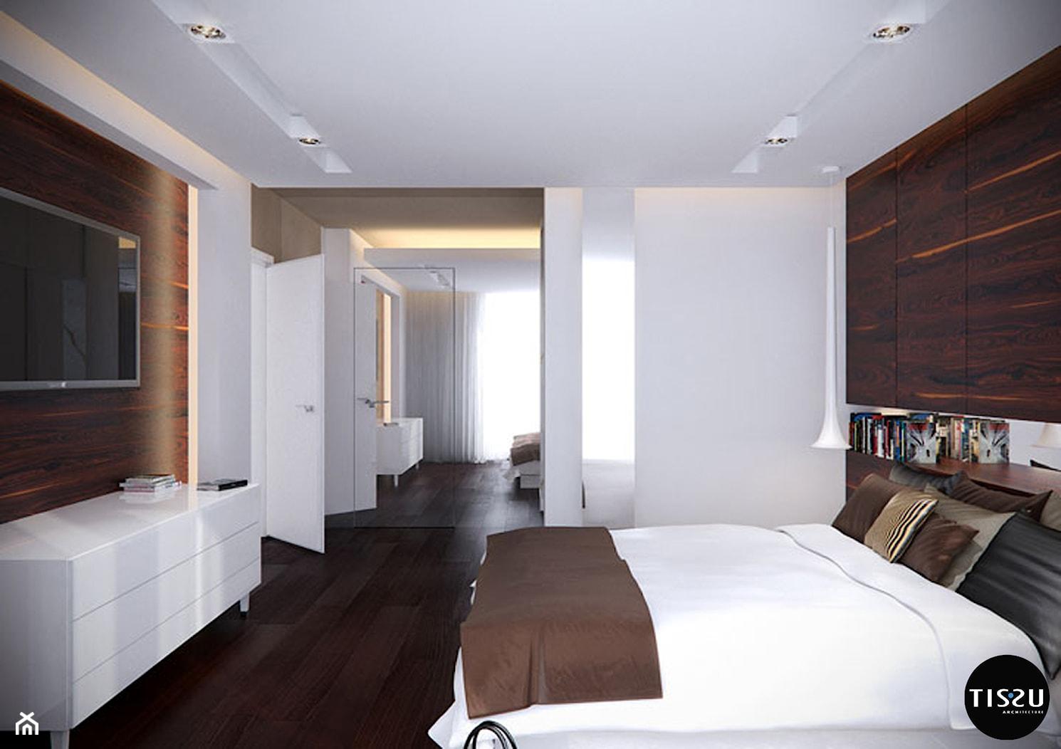 Minimalizm lekko ozdobiony w domu w Nowej Wsi – Tissu. - zdjęcie od TissuArchitecture - Homebook
