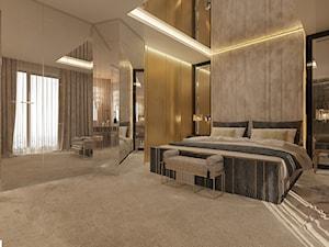 Projekt wnętrza w apartamancie z widokiem na panoramę Warszawy