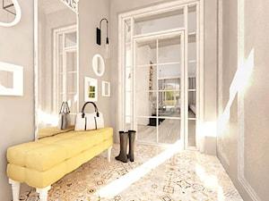 ANGIELSKI ROMANTYZM W REZYDENCJI W MILANÓWKU - Średni szary hol / przedpokój, styl rustykalny - zdjęcie od TissuArchitecture
