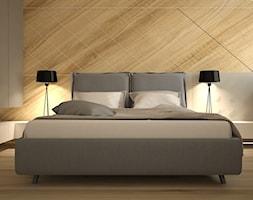 sypialnia+szaro-bia%C5%82a+w+stylu+nowoczesnym+-+zdj%C4%99cie+od+Wolskastudio.pl