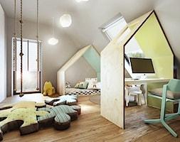 Mokronos - Duży szary pokój dziecka dla chłopca dla malucha, styl nowoczesny - zdjęcie od razoo-architekci