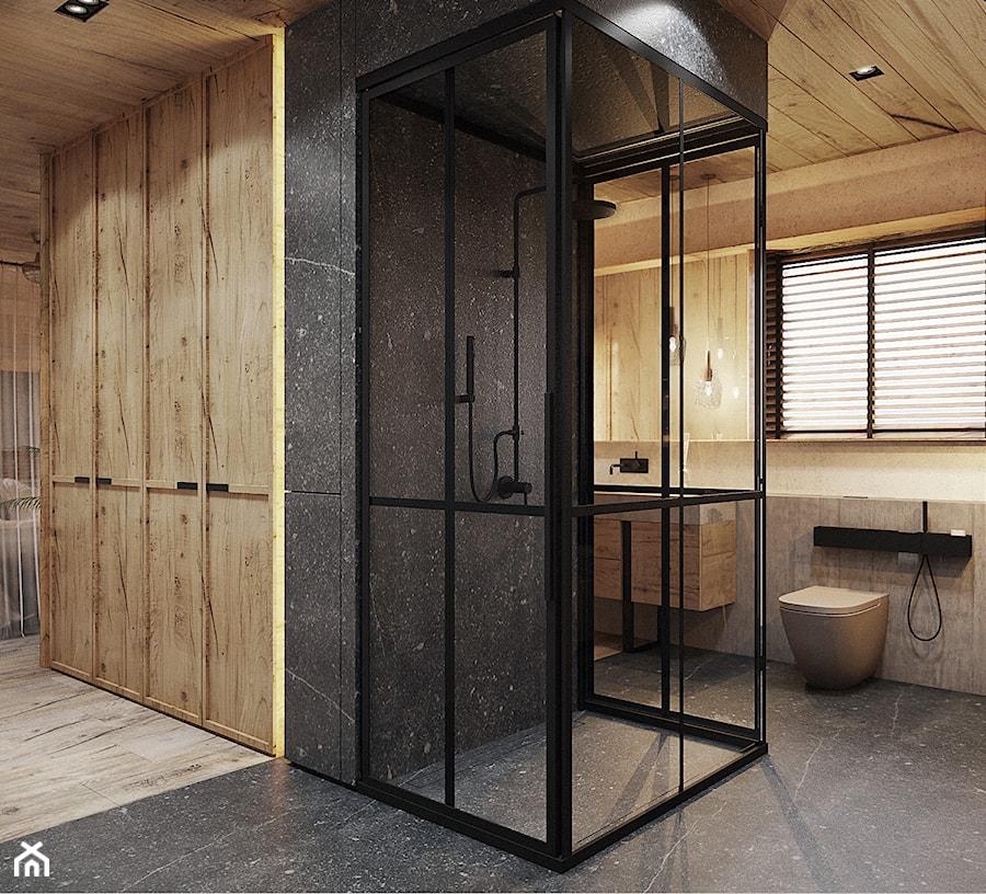 Bielsko - Biała - Duża szara łazienka, styl nowoczesny - zdjęcie od razoo-architekci
