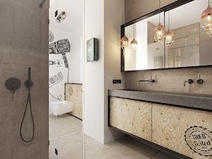 Warszawa - Wilanów - Duża beżowa łazienka w domu jednorodzinnym, styl nowoczesny - zdjęcie od razoo-architekci