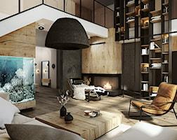 Salon styl Nowoczesny - zdjęcie od razoo-architekci
