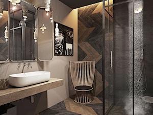 Warszawa - Mokotów - Średnia łazienka w domu jednorodzinnym, styl eklektyczny - zdjęcie od razoo-architekci