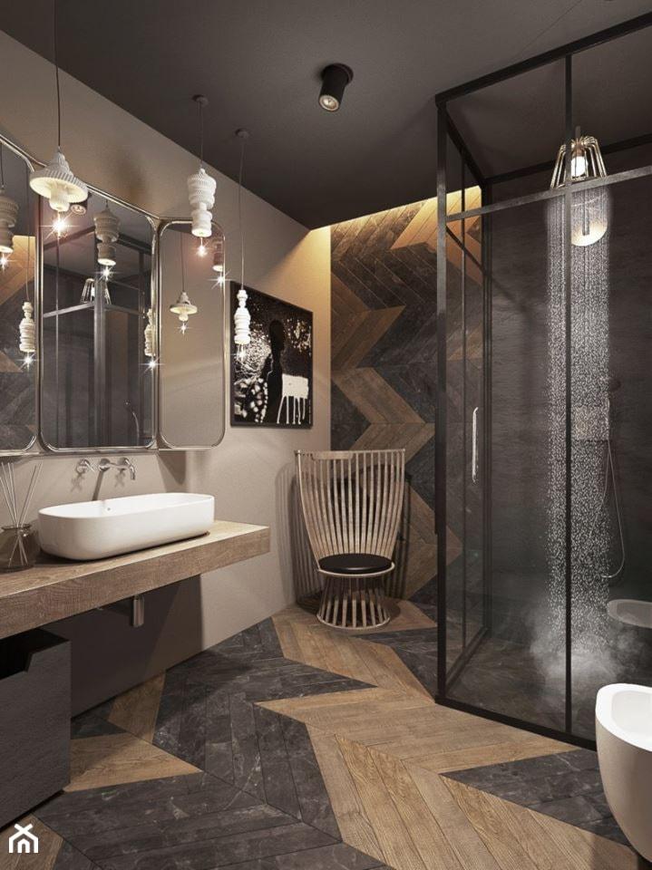Warszawa - Mokotów - Średnia łazienka w domu jednorodzinnym, styl eklektyczny - zdjęcie od razoo-architekci - Homebook