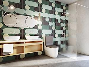 Poznań - Mosina - Średnia łazienka z oknem, styl nowoczesny - zdjęcie od razoo-architekci