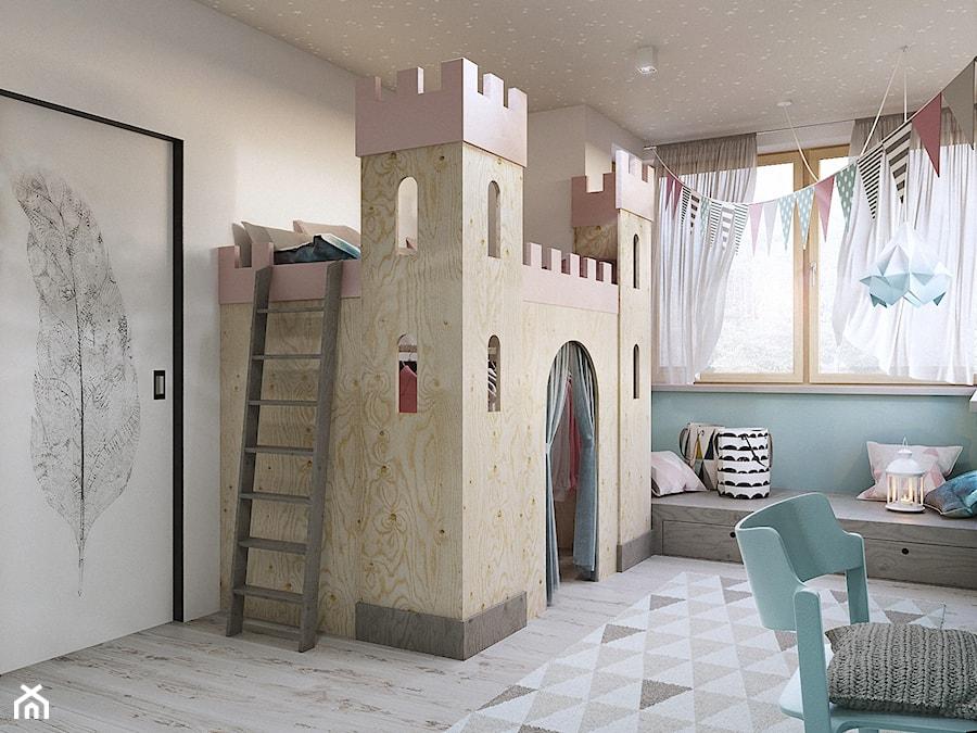 Warszawa - Wilanów - Średni biały pastelowy miętowy pokój dziecka dla dziewczynki dla malucha - zdjęcie od razoo-architekci