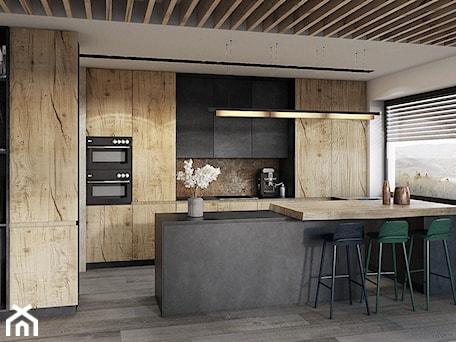 Aranżacje wnętrz - Kuchnia: Bielsko - Biała - Duża otwarta biała kuchnia w kształcie litery u z wyspą, styl nowoczesny - razoo-architekci. Przeglądaj, dodawaj i zapisuj najlepsze zdjęcia, pomysły i inspiracje designerskie. W bazie mamy już prawie milion fotografii!