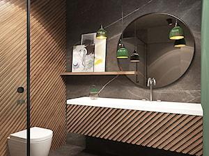 Warszawa - Mokotów - Brązowa szara łazienka, styl eklektyczny - zdjęcie od razoo-architekci