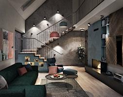 Rybical - dom nad jeziorem - Salon, styl nowoczesny - zdjęcie od razoo-architekci - Homebook