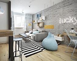 Salon styl Skandynawski - zdjęcie od razoo-architekci