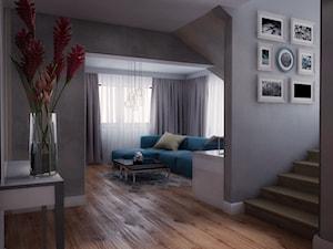 Dom w Koszycach k/Tarnowa - Średni beżowy szary hol / przedpokój, styl tradycyjny - zdjęcie od Nana Project Sp. z o.o.