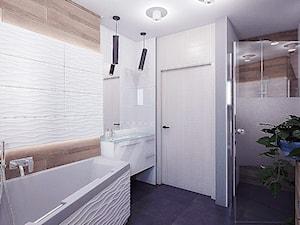 Dom w Koszycach k/Tarnowa - Średnia szara łazienka w bloku w domu jednorodzinnym bez okna, styl tradycyjny - zdjęcie od Nana Project Sp. z o.o.