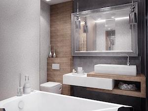 Mała szara łazienka w bloku bez okna, styl glamour - zdjęcie od Nana Project Sp. z o.o.