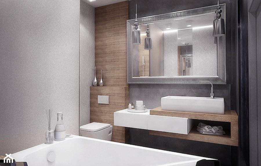 Mała Szara łazienka W Bloku Bez Okna Styl Glamour Zdjęcie Od Nana