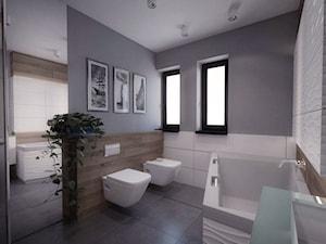 Dom w Koszycach k/Tarnowa - Duża szara łazienka w domu jednorodzinnym z oknem, styl tradycyjny - zdjęcie od Nana Project Sp. z o.o.