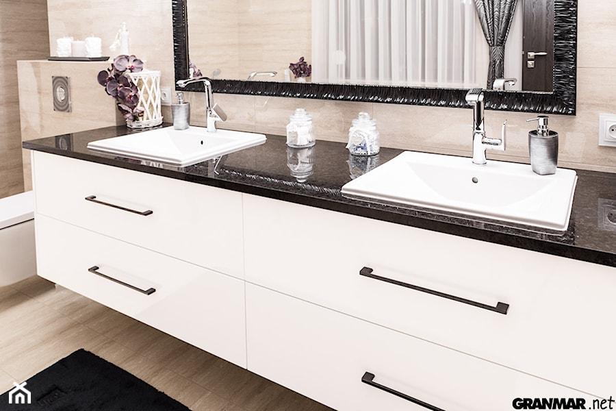 Blat łazienkowy Antique Brown Projekt Wnętrza Mieszkalnego